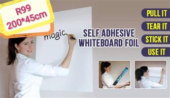 Self adhesive whiteboard foil
