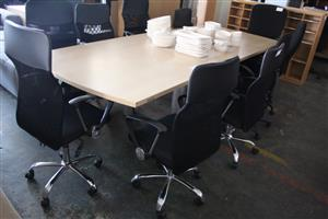 Thinking of getting a Boardroom Table? Mashathe has a big Bargain for what you looking for!!! We offer a Boardroom Table with 10 Chairs...