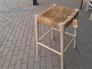 Wood and cane chair