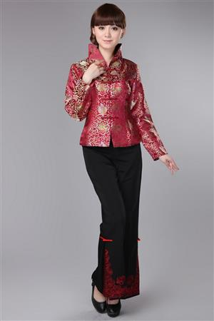 Traditional Chinese jacket and trousers for lady