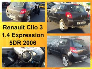 Renault Clio 3 Expression 1.4 5DR 2006 spares for sale.