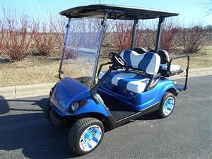 Yamaha Drive Custom Blue Golf Car