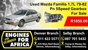 Used Mazda Familia 1.7L 79-82 Pn 5Speed Gearbox For Sale