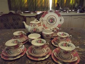 Royal Albert Lady Carlyle 23 piece tea set Made IN ENGLAND IN NEW CONDITION !