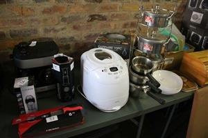 Bread machine and pots for sale