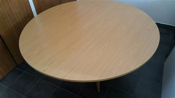 6 Seater oak meeting table
