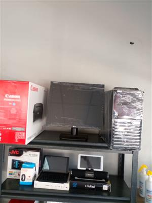 Printers, Harddrive, Screen, Laptop on Auction