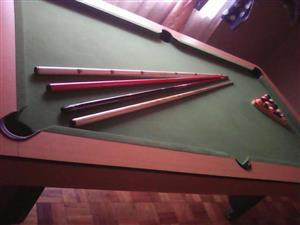 Pool tafel met balle
