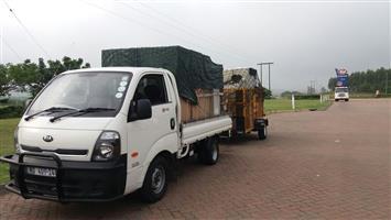 1.3 Ton Kia bakkie and 2.5 ton truck for hire