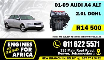 Used Audi A4 ALT 2.0L 01-09 Engine FOR SALE