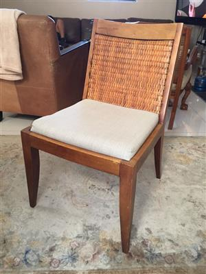 Single Designer dining room chair - priced due to repair