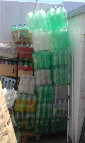 Plastic Bottles 2l Used ones Approximately 1000 available. Dry and Clean on the inside. R2 each.