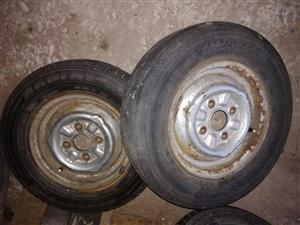 Datsun 12inch rims with tyres
