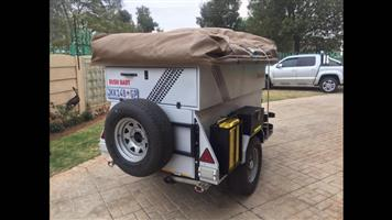 Bush Baby Off-road Camping Trailer. New condition. With Howling Moon Rooftop Tent. Big with additional roof and wall sets