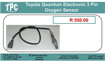 Toyota Quantum Electronic 3 Pin Oxygen Sensor For Sale.