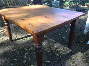 Antique oregon nice shaped squarish rectangular table Farmhouse