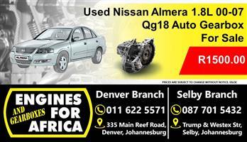 Used Nissan Almera 1.8L 00-07 Qg18 Auto Gearbox For Sale