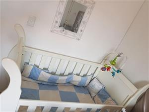 White baby cot for sale