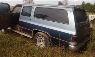 Chevy silver rado suburban