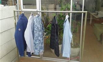 Galvanised clothing hanging rail for sale