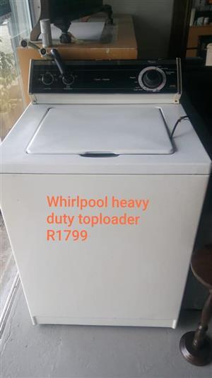 Whirlpool heavy duty top loader