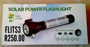 Solar power flashlight