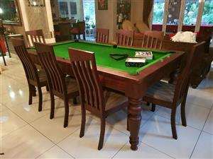 Lectron Pool / Dining Table & 10 Chairs