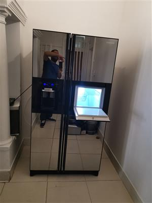 samsung double door mirror finish water and ice