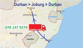 Shared trucks Johannesburg to Durban