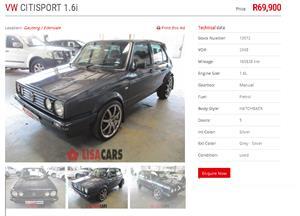 2008 VW Citi Sport 1.6i