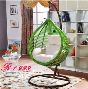 Green Swing with white Cushion