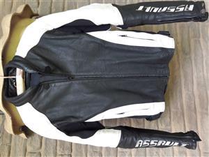 Motorcycle Leather Biker Jacket,  R1500