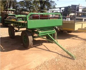 S3081 Green U Make 4 Wheel Flatbed Trailer / 4 Wiel Platbak Wa Pre-Owned Trailer