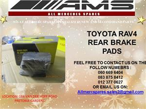 CHRISTMAS SPECIALS!!! TOYOTA RAV4 BRAKE PADS FOR SALE