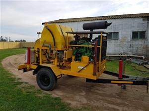 High Pressure Jetting Unit on Trailer
