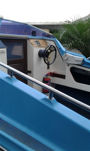 Moonraker cabin boat 5.1 meter for sale. original and  not a cent to be spend