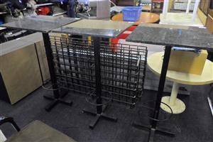 Granite Top Metal Framed Cocktail Tables - B033043292-40-44