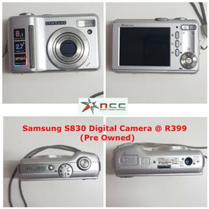 SAMSUNG S830 DIGITAL CAMERA WITH FREE POUCH (PREOWNED)