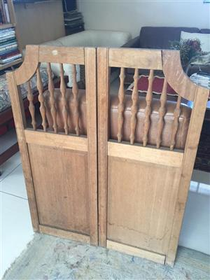 Set of authentic Swing louvre bar doors - Ideal for coffee shop/bistro/eatery