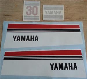 1980's Yamaha 30 outboard motor decals stickers vinyl cut graphics kit