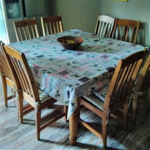 8 Piece Pine Dining room set