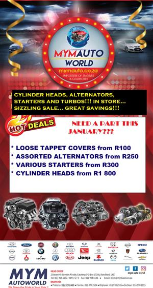 MYM AUTOWORLD CYLINDER HEAD AND PARTS SPECIALS AVAILABLE IN STORE TODAY!!!
