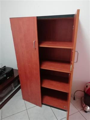 4 Tier 2 door wooden closet for sale