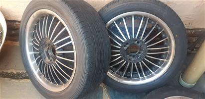 17 inch mags with tyres.