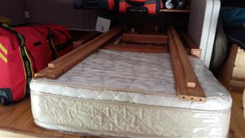 Single Pine Bed, Collapsable