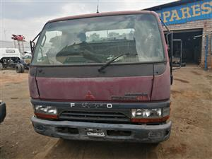 Stripping Mitsubishi canter truck for spares