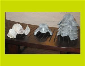 Miniature Lead Samurai Helmets - Priced Individually(SKU 22)