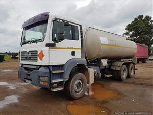 MAN TGA 33.410 Rigid Water or Diesel Tanker Truck