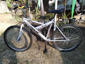 Silver mountain bike for sale
