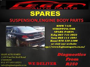 BMW 745i  STRIPPING FOR SPARE PARTS
